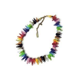"""Marc Jacobs Multicolor Zipper Necklace vintage 90"""""""